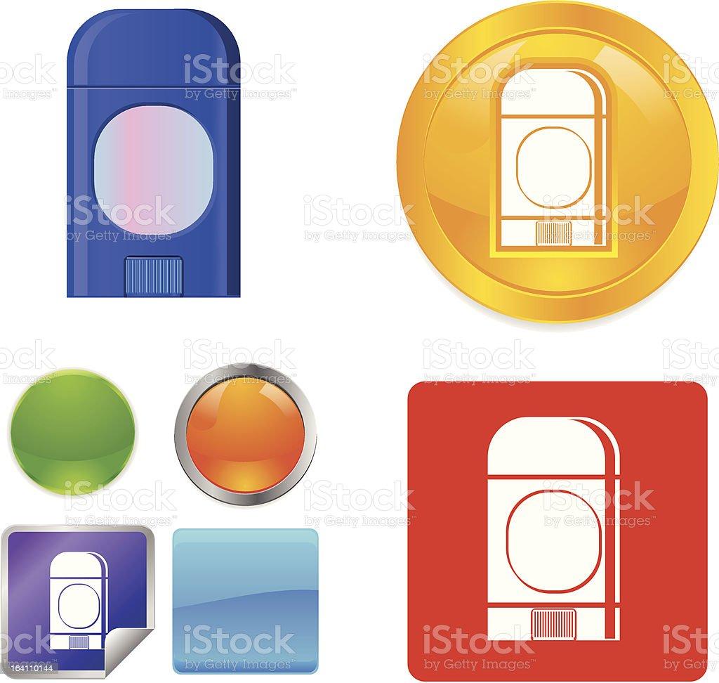 Deodorant Stick vector icon royalty-free stock vector art