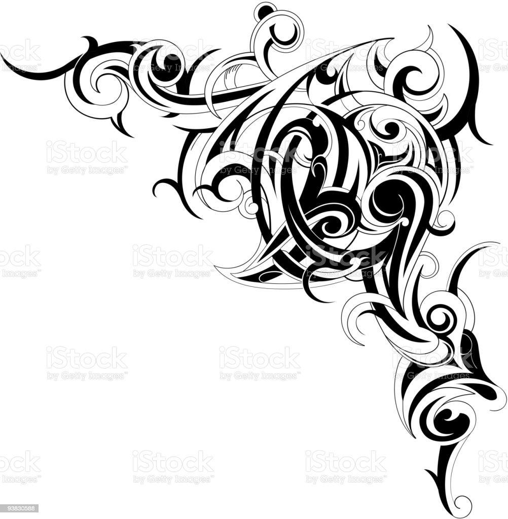 Deorative shape royalty-free stock vector art