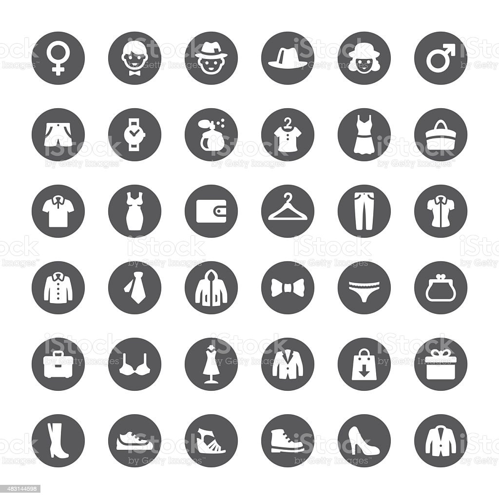 Department Store vector icons vector art illustration