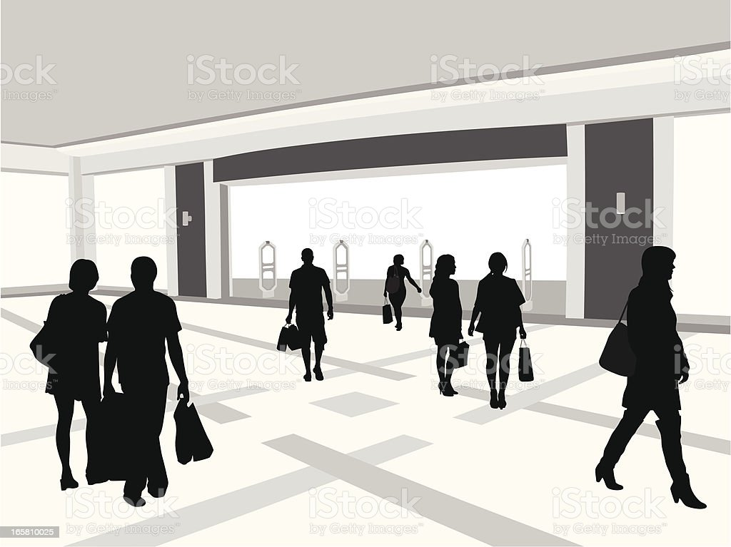Department Store Vector Silhouette royalty-free stock vector art