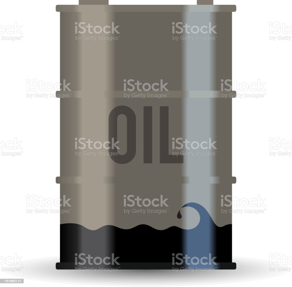 Depleted Oil Resource royalty-free stock vector art