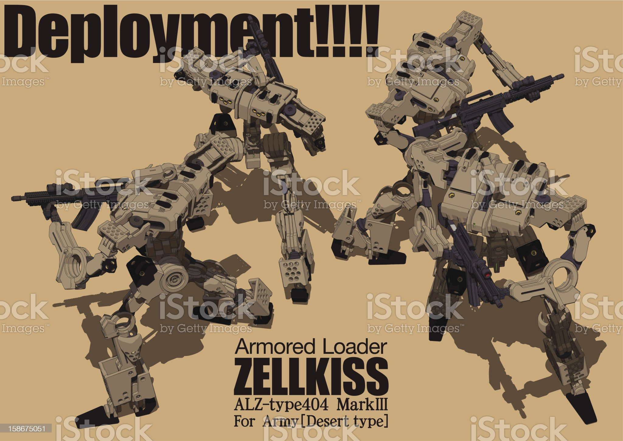 Deployment!!!! royalty-free stock vector art