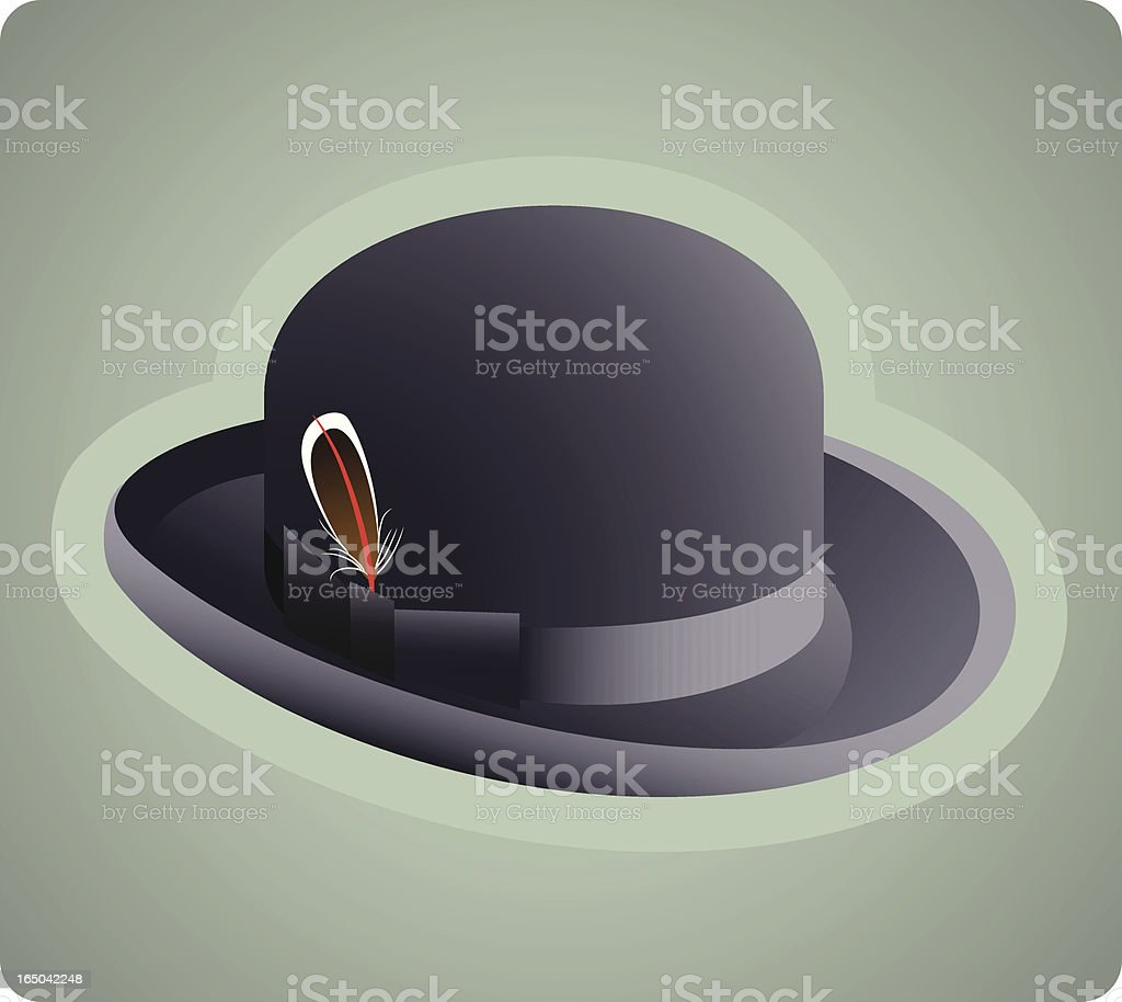 Derby Hat royalty-free stock vector art