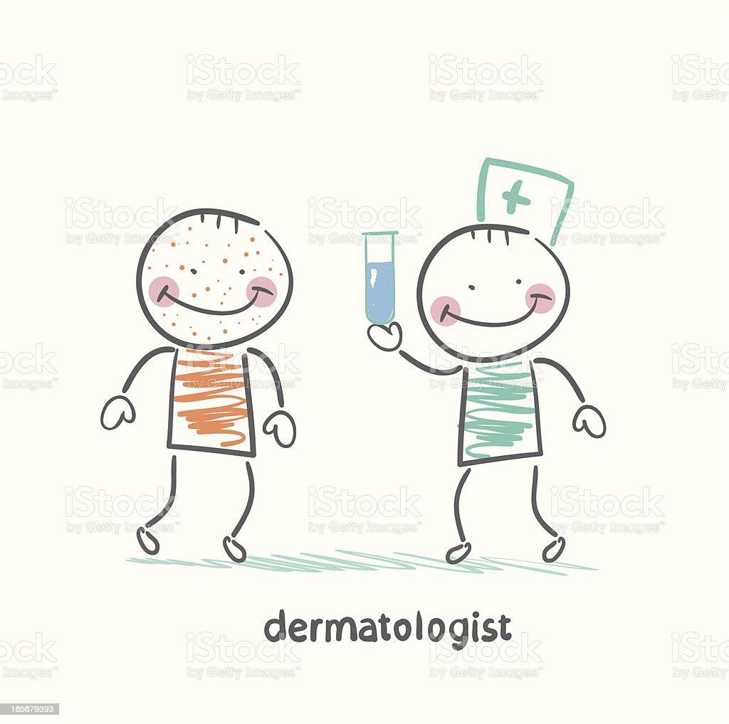 dermatologist giving medicine patient royalty-free stock vector art
