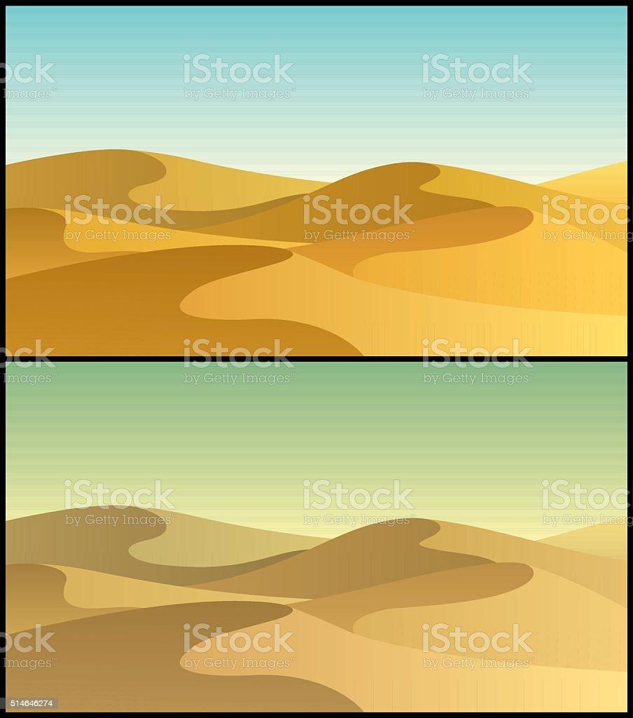 Desert 3 vector art illustration