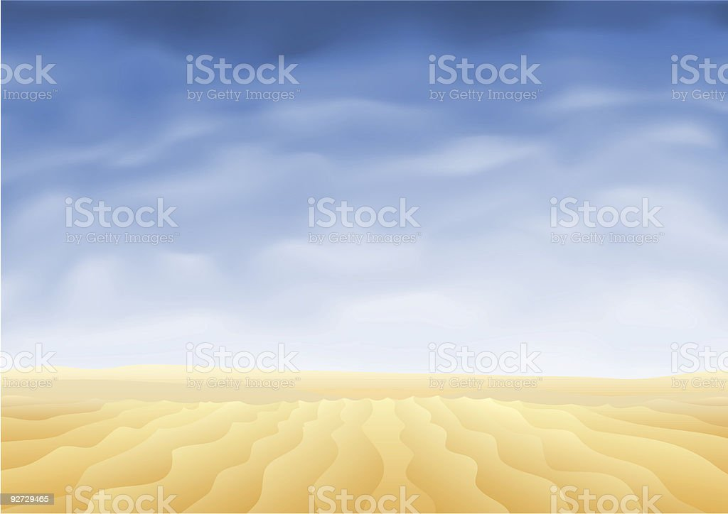 A desert and blue sky painting royalty-free stock vector art