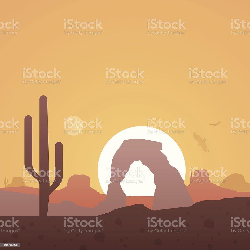 Desert Background vector art illustration