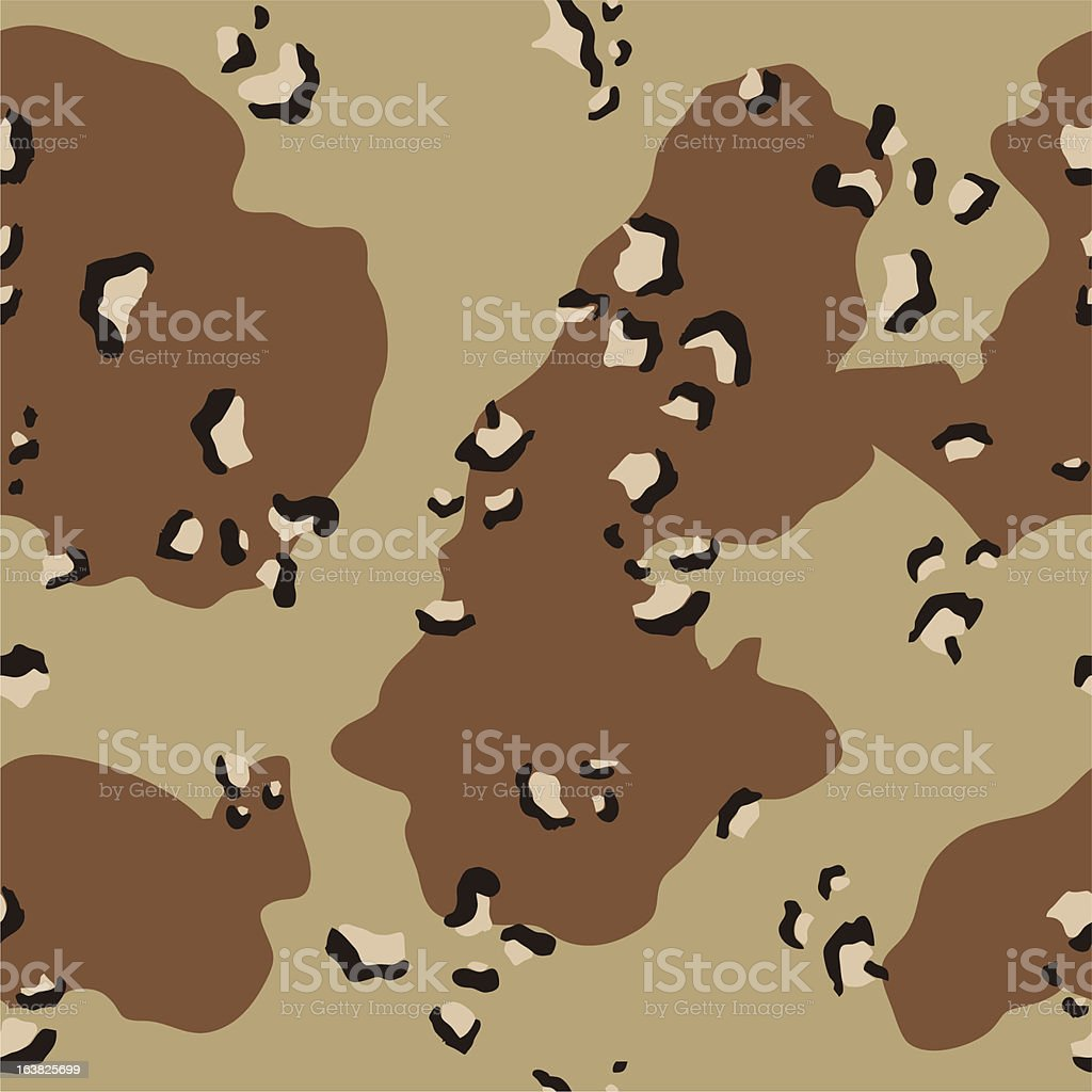 Desert Camouflage Pattern - In Full Repeat royalty-free stock vector art