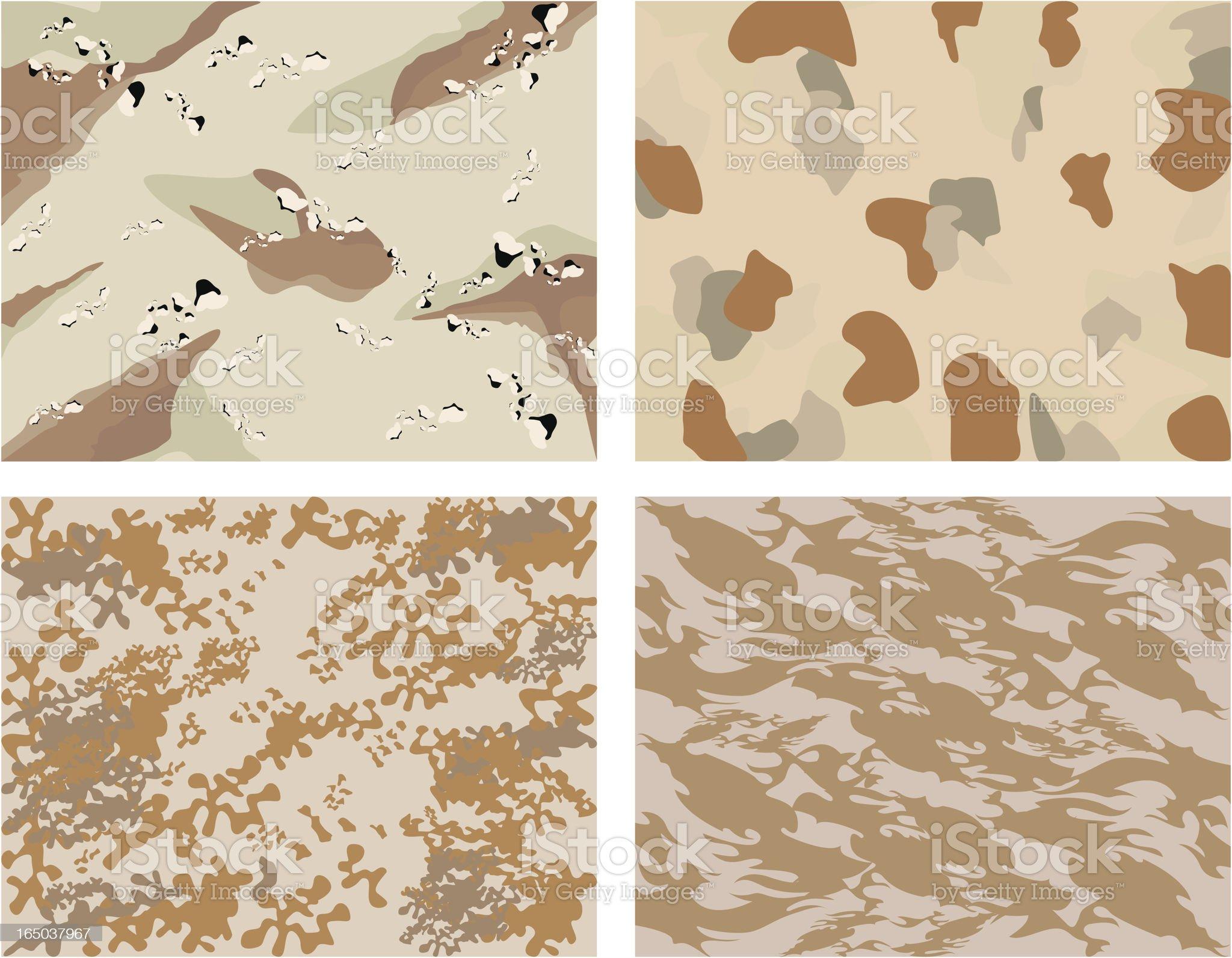 desert camouflage royalty-free stock vector art
