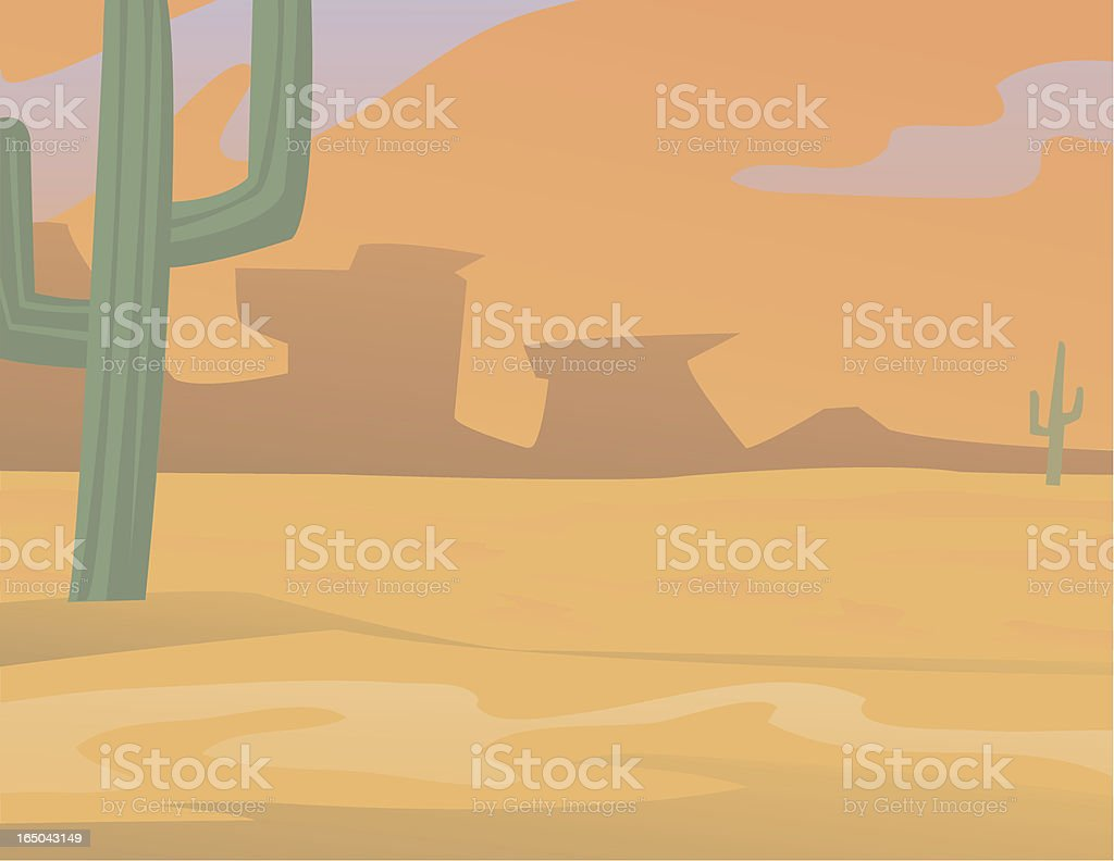 Desert Glow royalty-free stock vector art