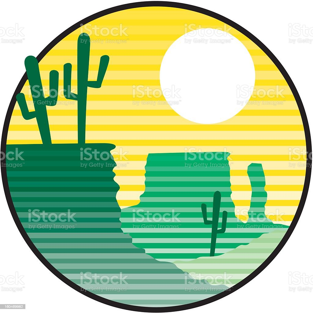 Desert Icon royalty-free stock vector art
