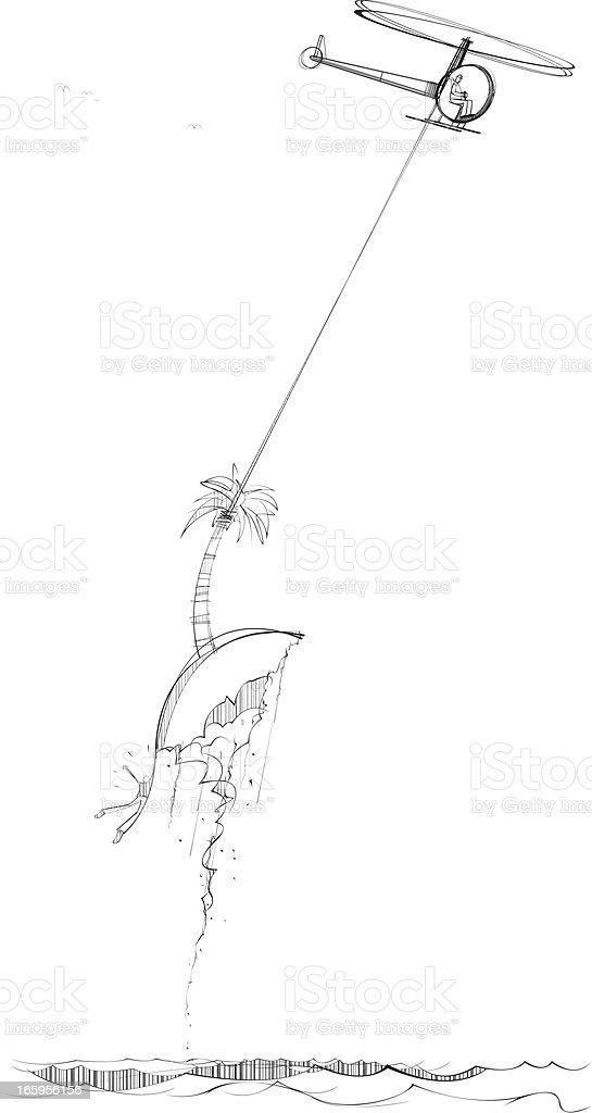 Desert Island Rescue royalty-free stock vector art
