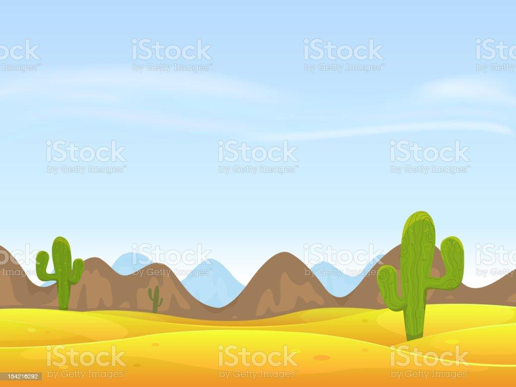 Desert Landscape Background vector art illustration