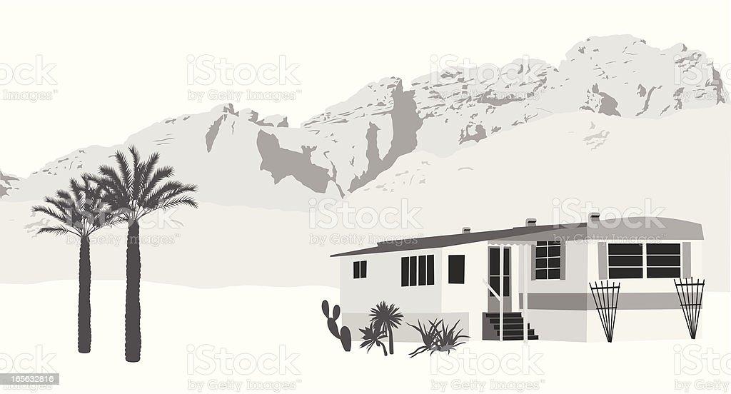 Desert Mobile Vector Silhouette royalty-free stock vector art