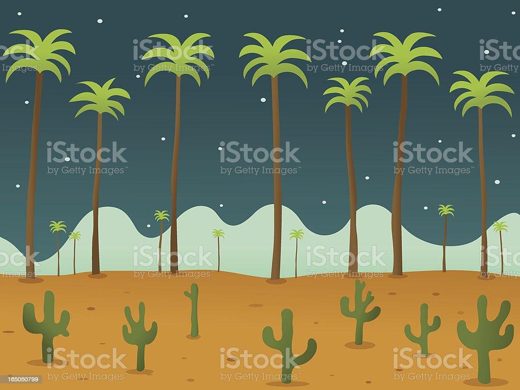 Desert Night royalty-free stock vector art
