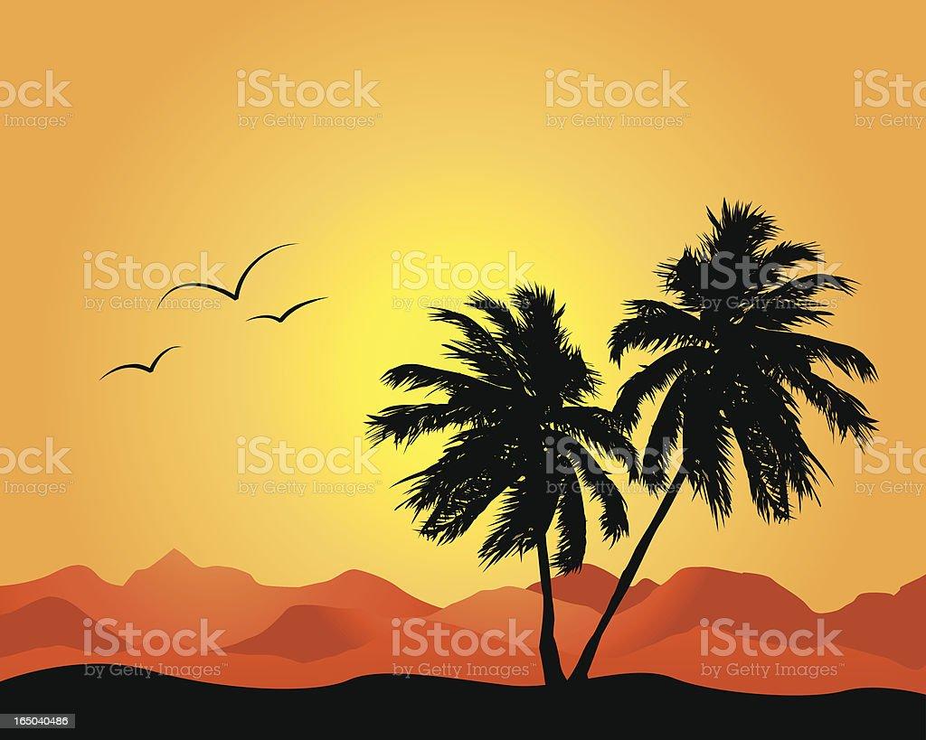 Desert Palms royalty-free stock vector art