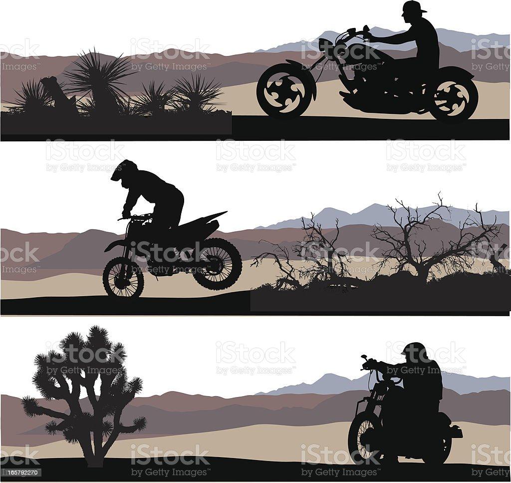 Desert Speedsters Vector Silhouette royalty-free stock vector art