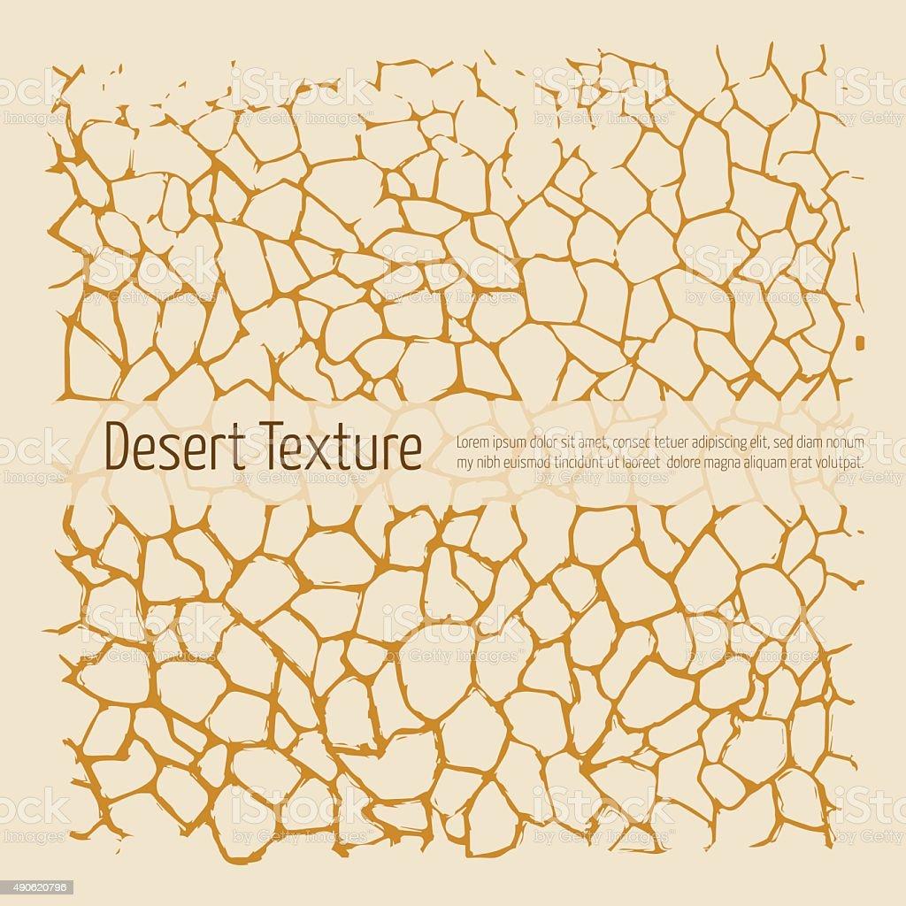 Desert texture vector art illustration