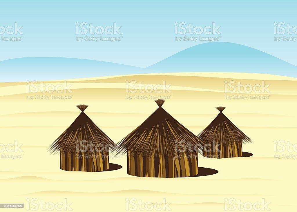 desert. vector art illustration
