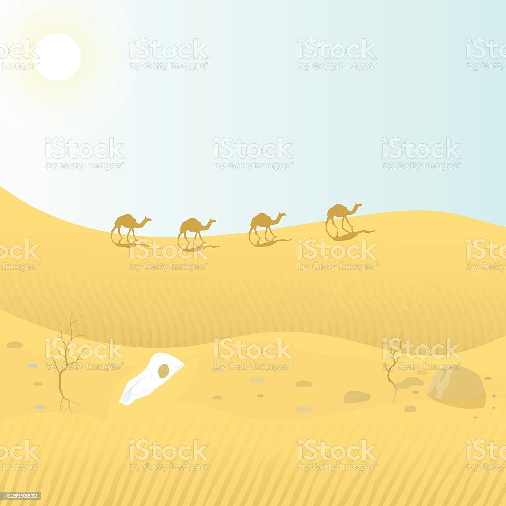 desert vector art illustration