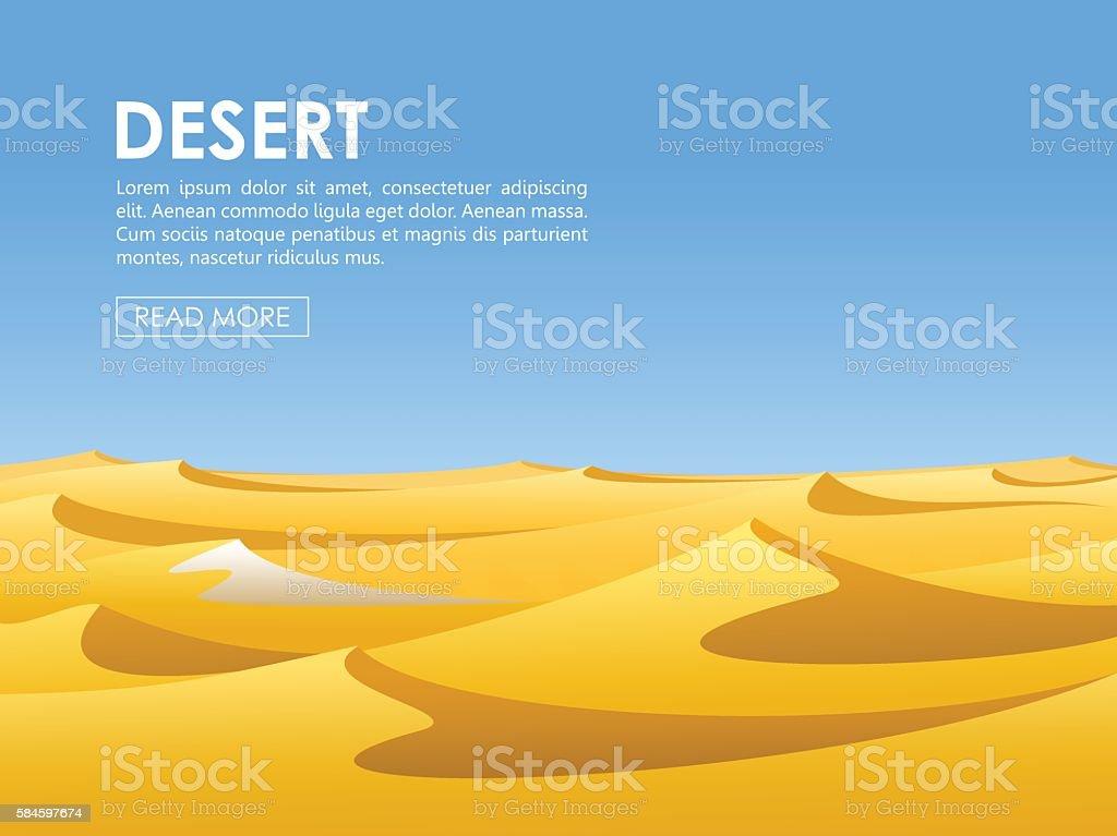 Desert vector lanscape vector art illustration