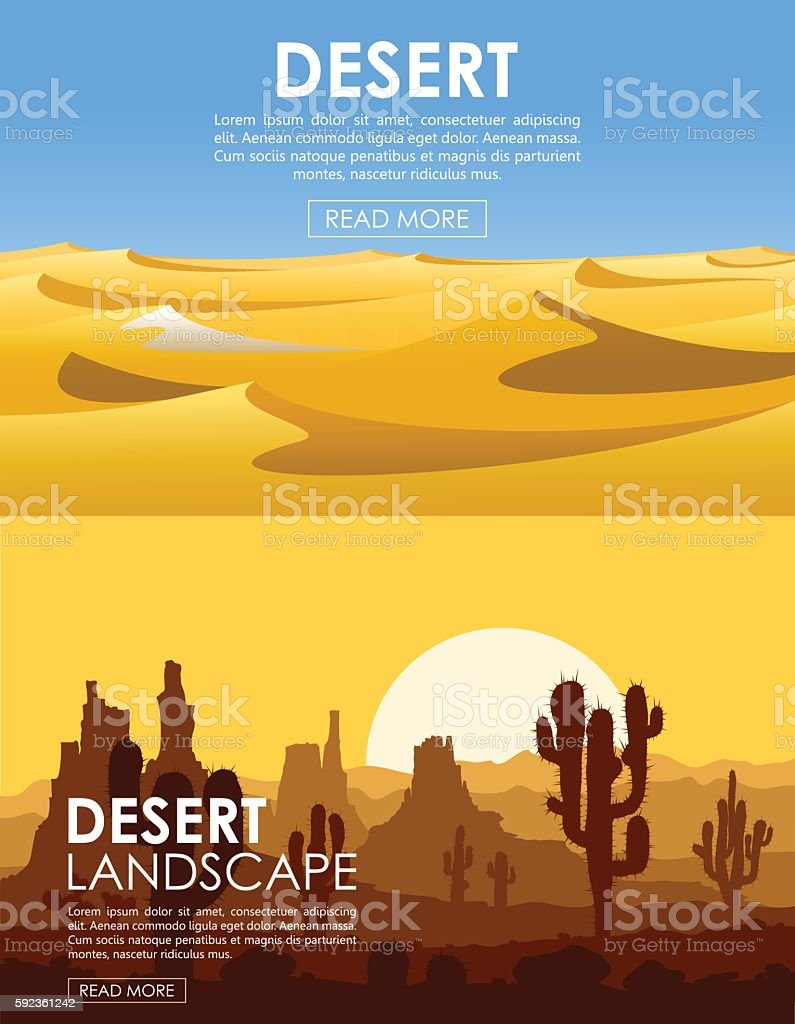 Desert vector set vector art illustration