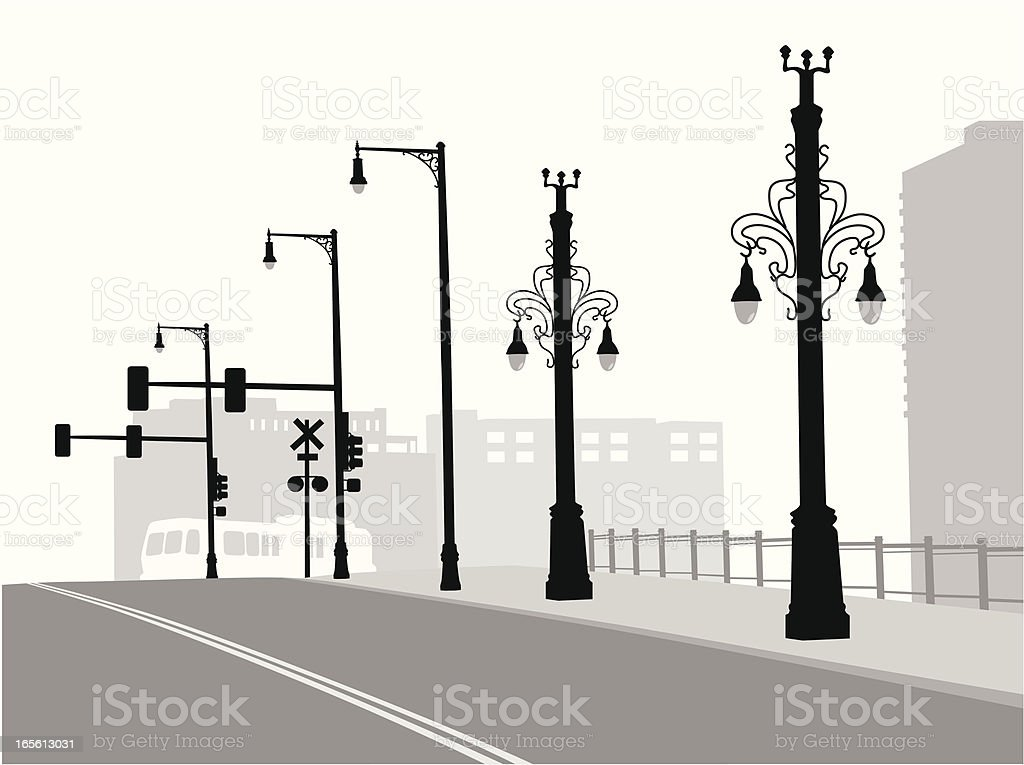 Deserted Street Vector royalty-free stock vector art