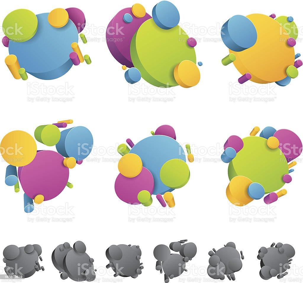Design 3D Elements royalty-free stock vector art