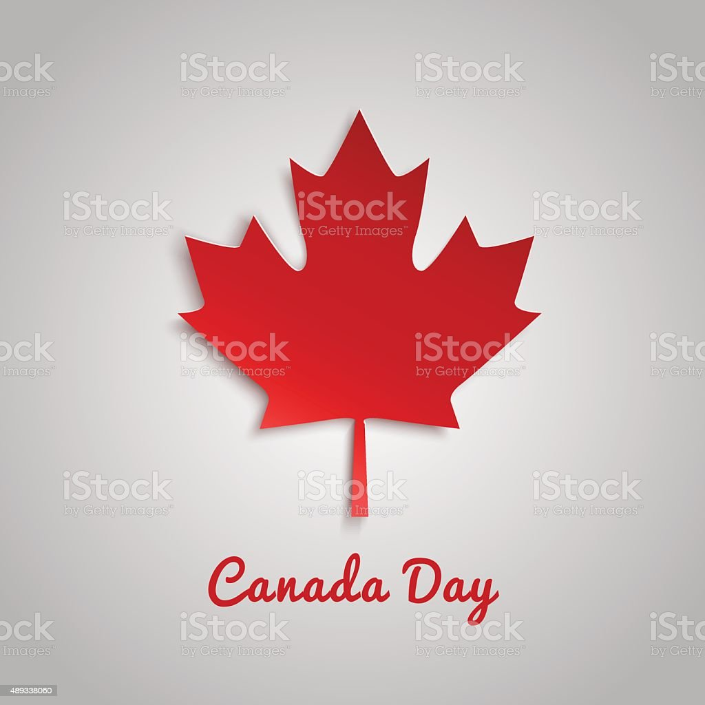 Design a banner for Canada Day 1 st of July. vector art illustration