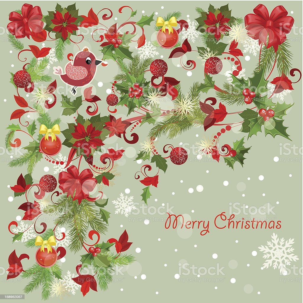 Design a Christmas greeting card royalty-free stock photo