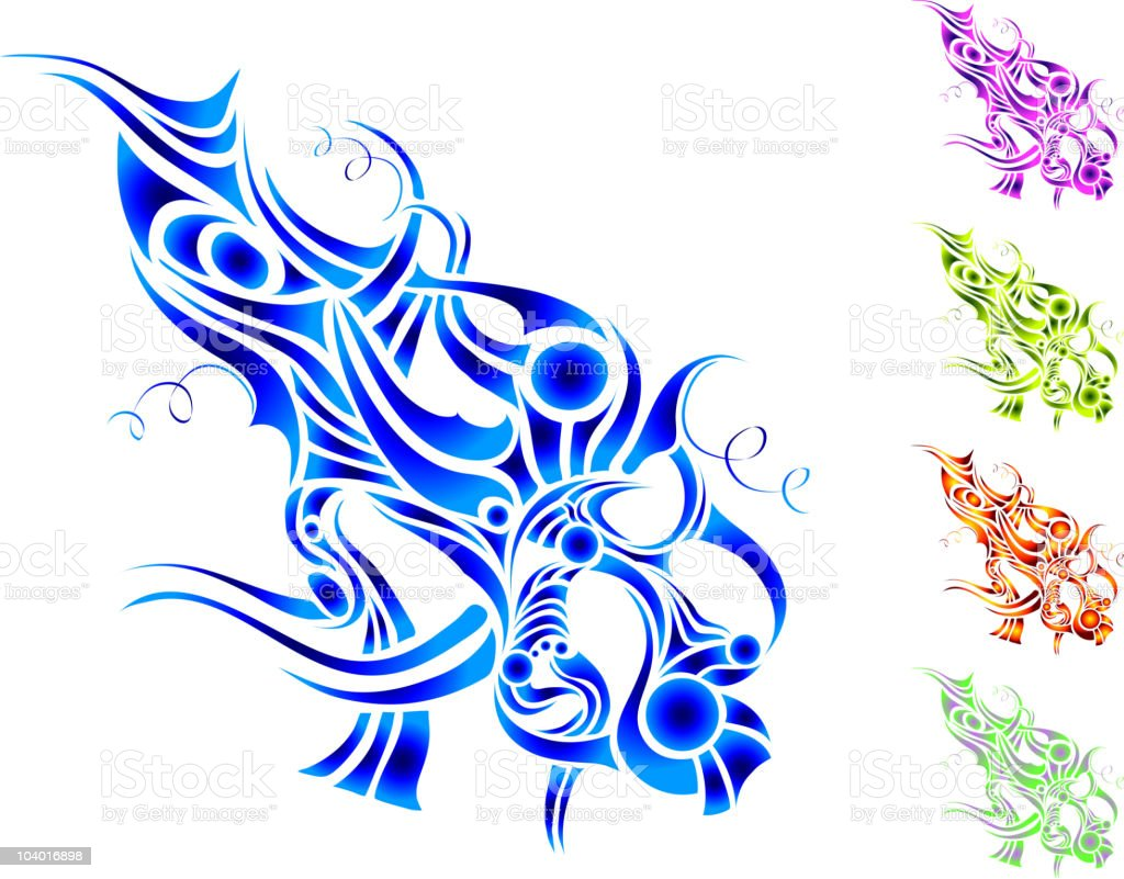 design Background, element, liquid, motion, fluid, fire, tribal tattoo royalty-free stock vector art