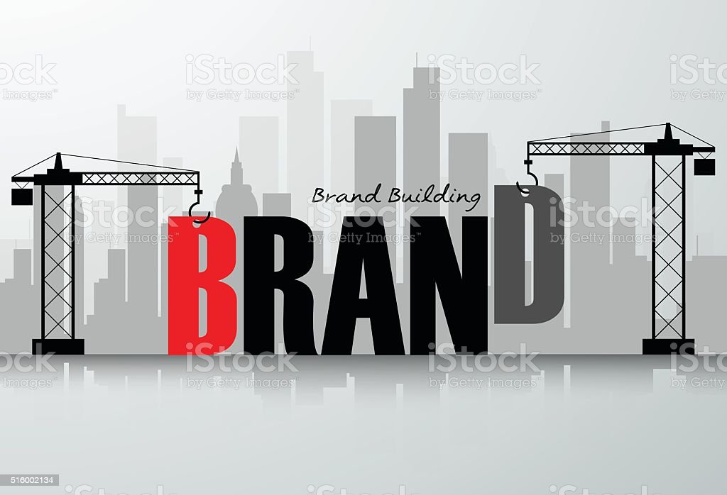 Design brand building concept, vector illustration. vector art illustration