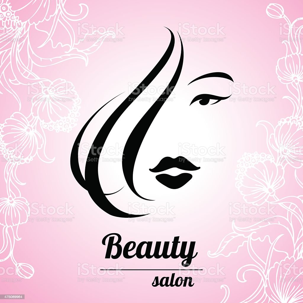 design business card for hair and beauty salon stock