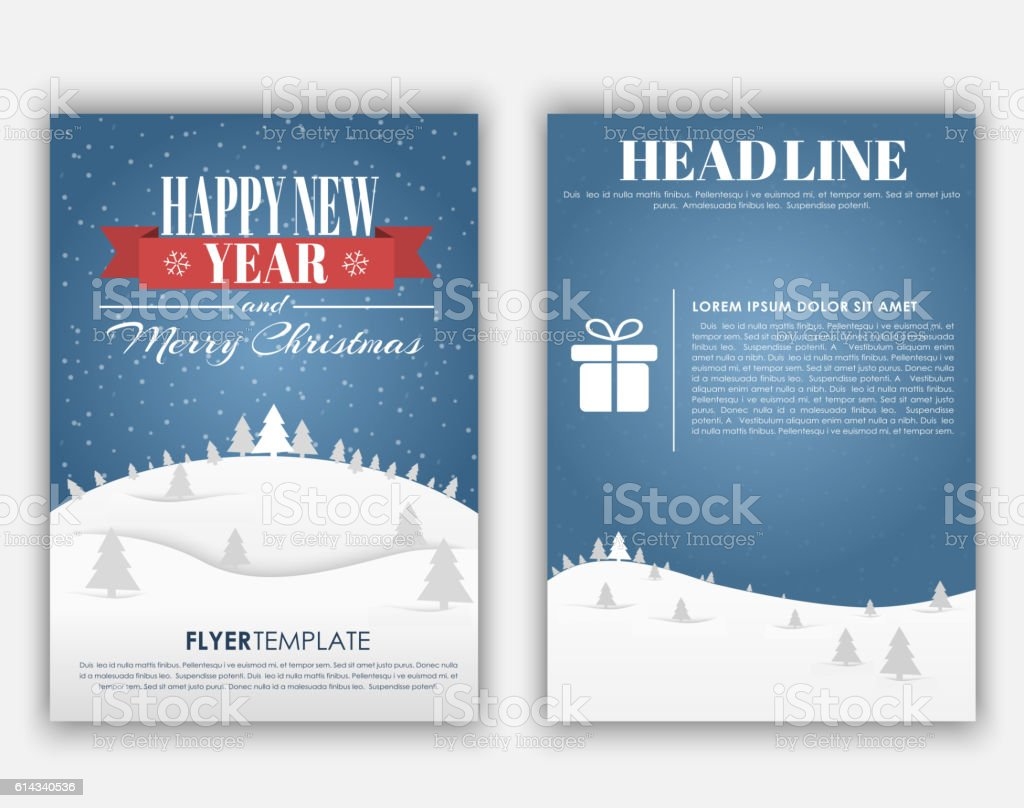 design christmas and new year flyer stock vector art 614340536 design christmas and new year flyer royalty stock vector art