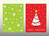 Design Christmas Cards 2017  tree Santa and deer. Symbols of