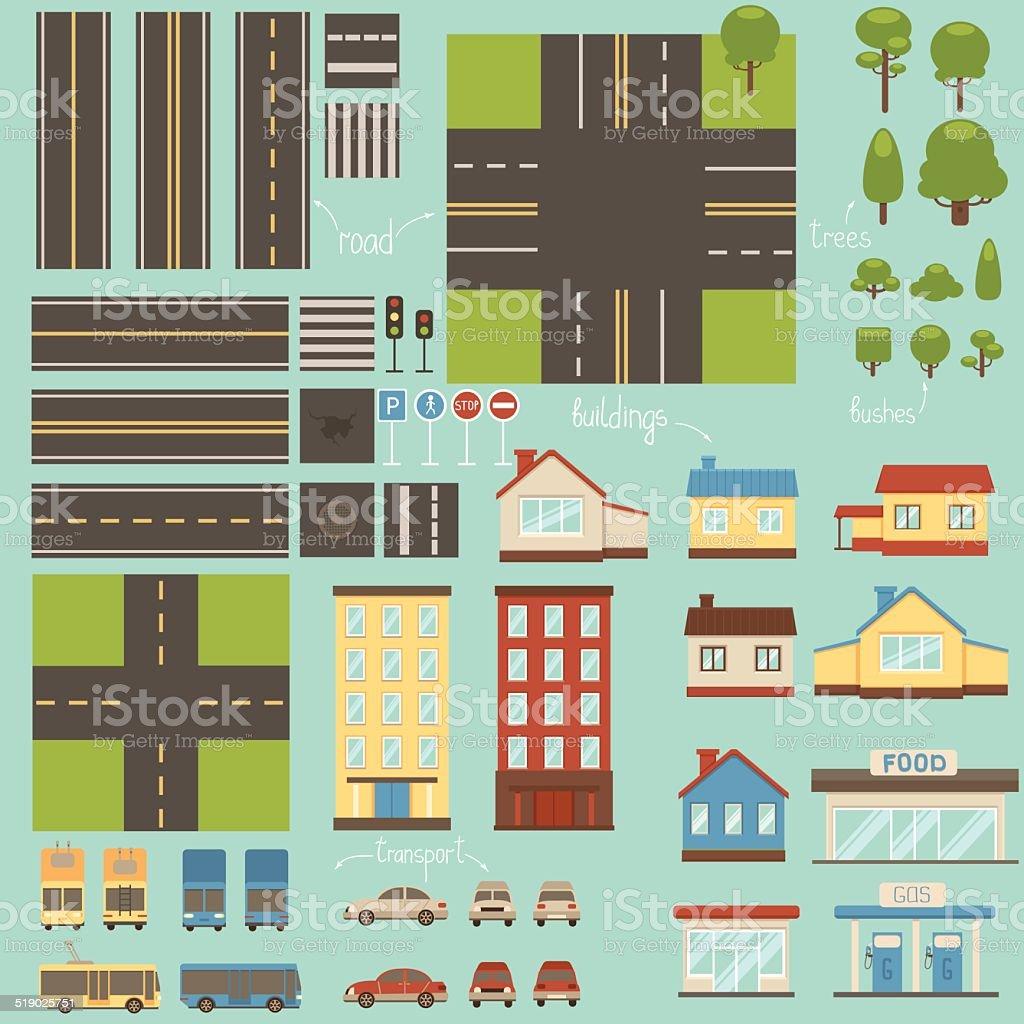 Design city elements vector art illustration