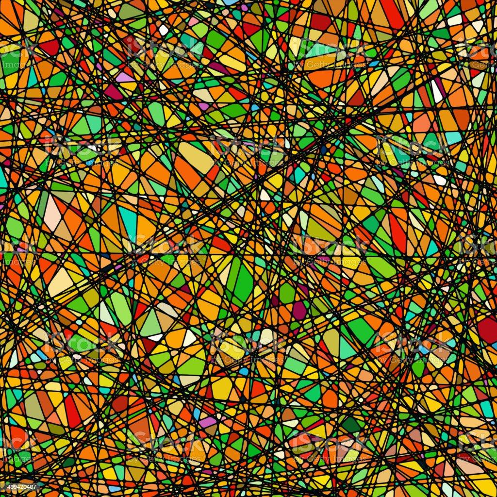 Design detail of stained glass. EPS 8 vector art illustration