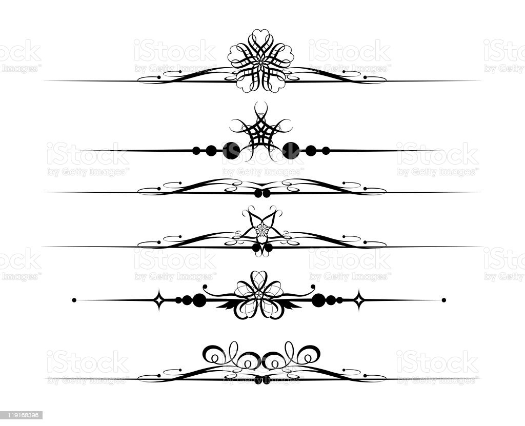 Design Dividers Vector image - Set 1 royalty-free stock vector art