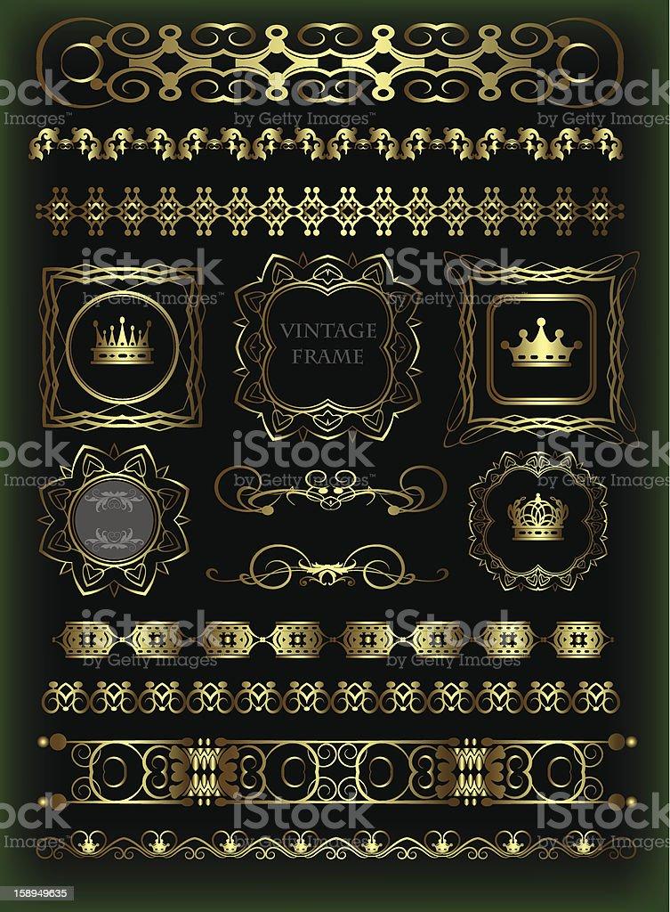 Design Dividers Vector image - Set 17 royalty-free stock vector art