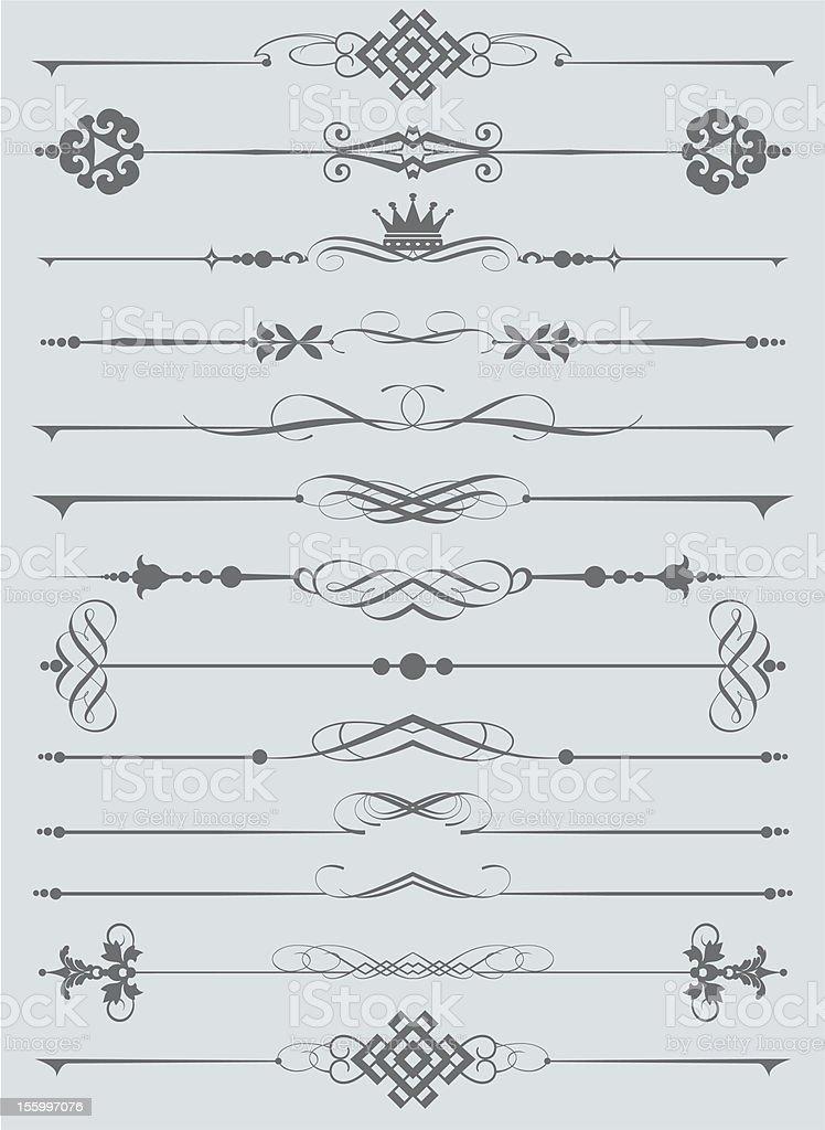 Design Dividers Vector image - Set 36 vector art illustration
