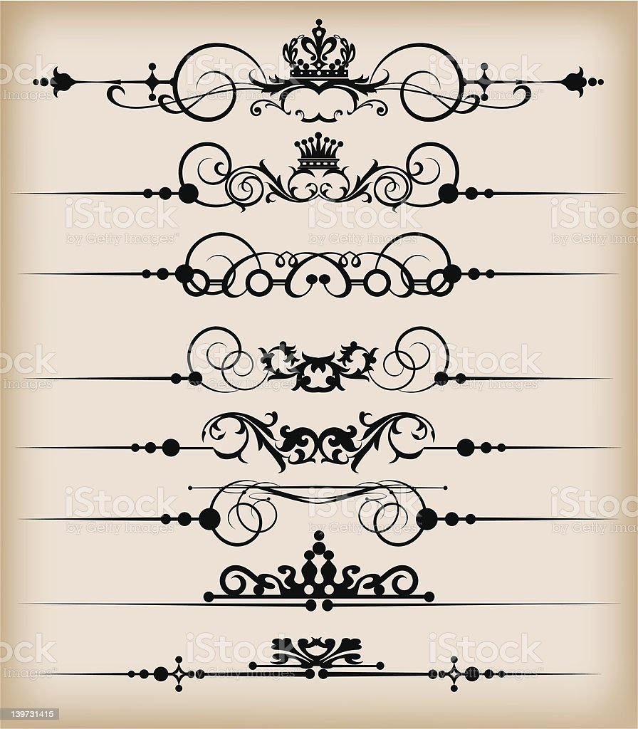 Design Dividers Vector image - Set 49 royalty-free stock vector art
