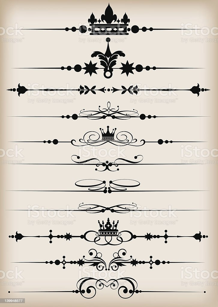 Design Dividers Vector image - Set 52 royalty-free stock vector art
