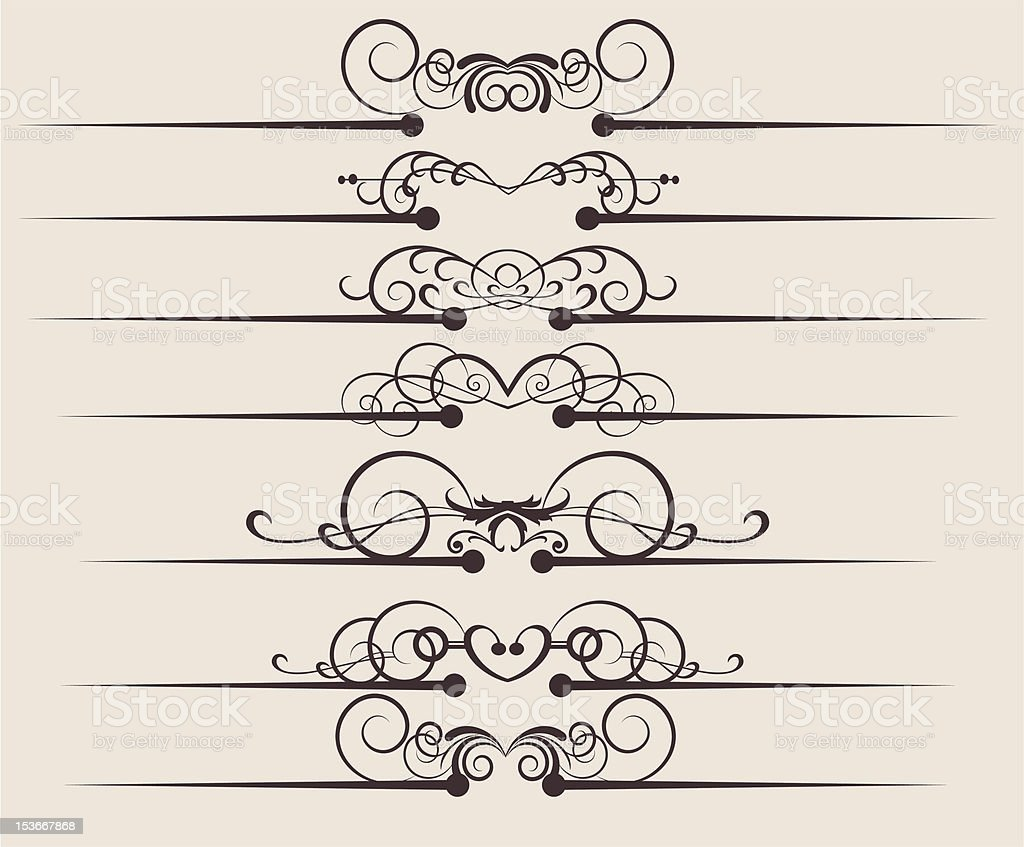 Design Dividers Vector image - Set 54 royalty-free stock vector art