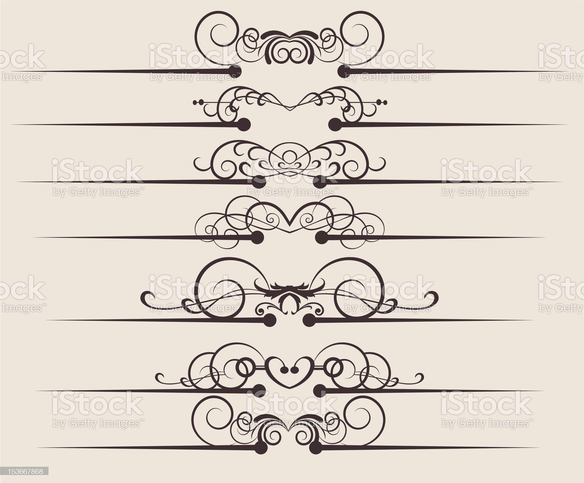 Design Dividers Vector image - Set 54 royalty-free stock vector art