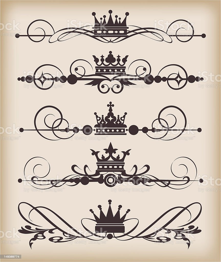 Design Dividers Vector royalty-free stock vector art