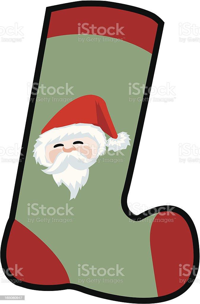Design Element - Christmas Stocking royalty-free stock vector art