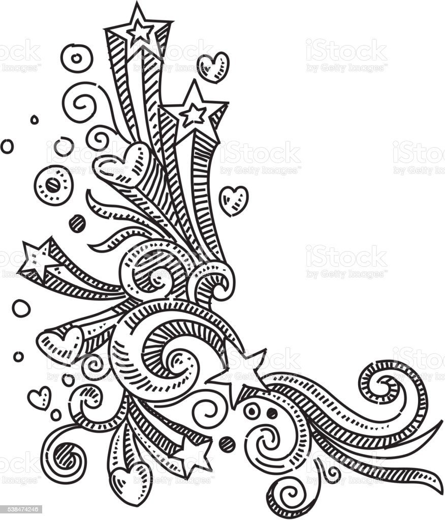 Design element Drawing vector art illustration