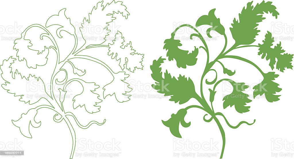 Design Element - Floral Motif royalty-free stock vector art