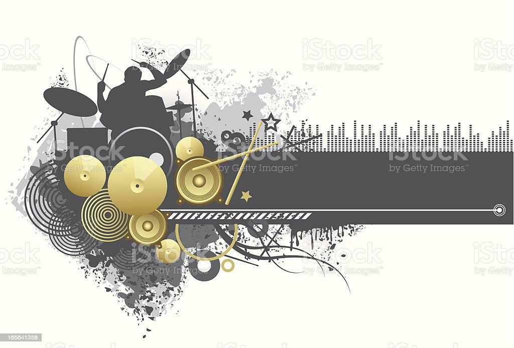 design element - music theme vector art illustration