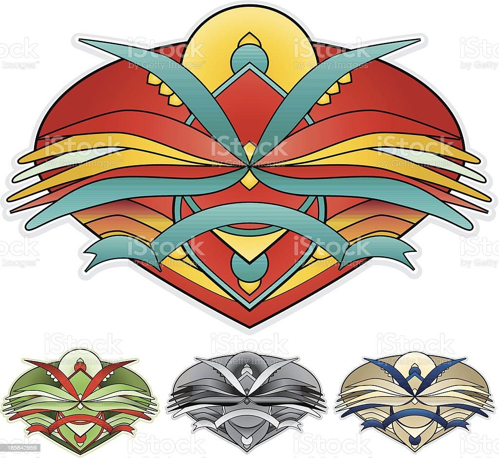 Oder Design-Element Emblem, Insignia in vier Farbthemen Lizenzfreies vektor illustration